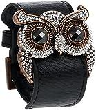 Crystal Owl Leather Cuff Bracelet