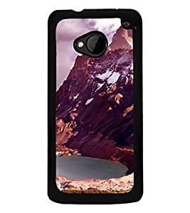printtech Ice Mountain View Back Case Cover for HTC One M7::HTC M7