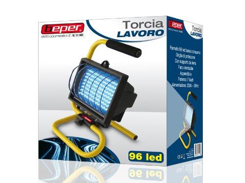 BEPER 70.068 /Lampada da Lavoro - 96LED -TORCIA - 220V