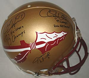 Jameis Winston, Charlie Ward and Chris Weinke Hand Signed Autographed Florida State...