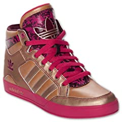 Ladies adidas Originals Hardcourt Hi Casual Shoes basketball sneakers GOLD by adidas