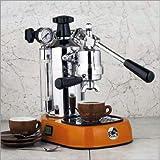 La Pavoni Professional PO-16 Espresso Machine with Orange Base