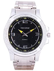 Time Expert Analogue Black Dial Men's Watch - TE100324