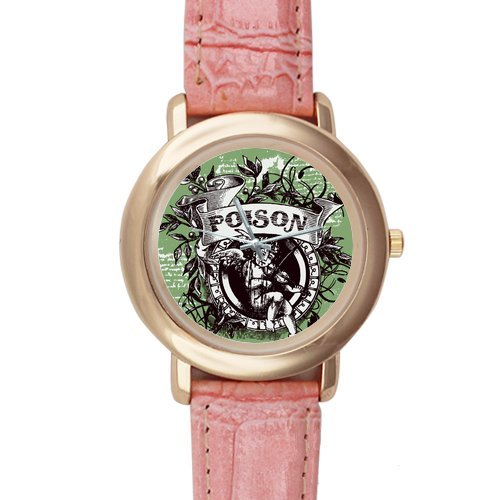 Customized Retro Picture Pink Leather Alloy High-Grade Watch