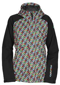Buy Bonfire Irvington Triad Print Jacket (Jack Black) Ladies Snowboard Jacket by Bonfire