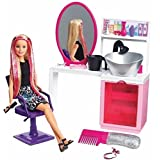 Barbie Sparkle Style Salon & Blonde Doll Playset