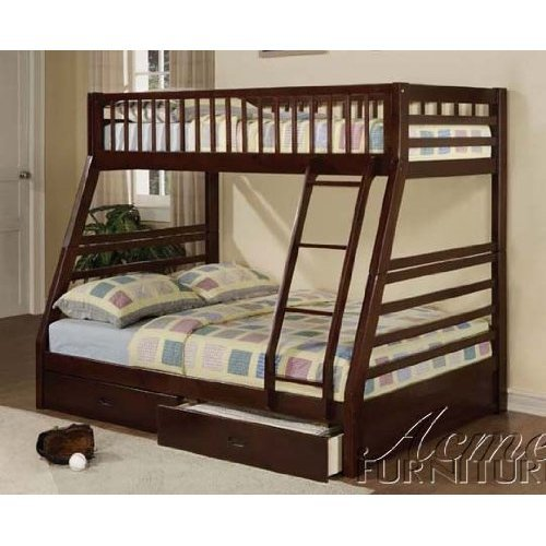 Jason Espresso Twin Over Full Bunk Bed With Drawers front-1043333