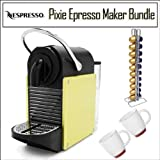 51rvuMpVwYL. SL160  Nespresso Pixie D60 Single Cup Espresso Maker Yellow/ Lime Bundle