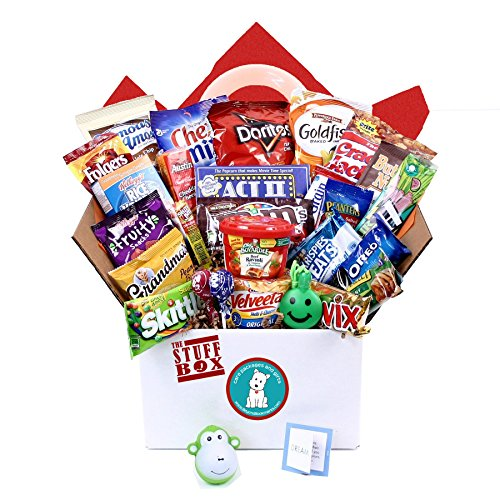 The Stuff Box College Care Package - Tons Of Favorite Traditional Snacks & Treats