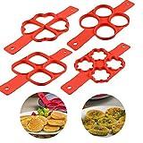 Silicone Pancake Mold Pancake Maker Pancake Flipping Fantastic Pancake (4 Qty.)