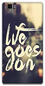 The Racoon Lean life goes on hard plastic printed back case / cover for Lenovo K900