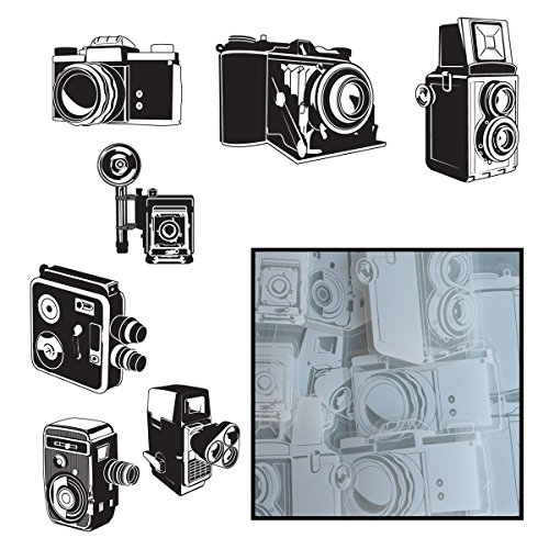 Transparencies Die-Cuts 14/Pkg-Say Cheese Camera 7 Styles/White - 1
