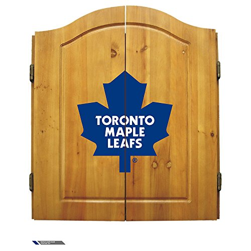 Nhl Toronto Maple Leafs Team Dartboard Cabinet Set
