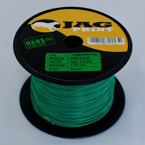 ABS 1.75MM-Green for 3D printing by Jagprint