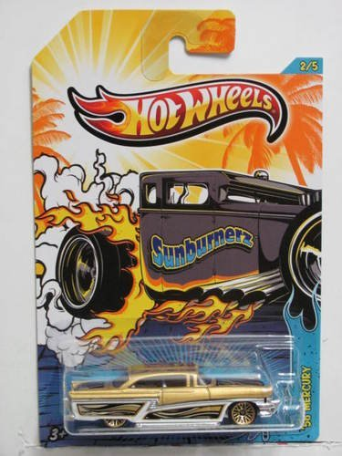 Hot Wheels Kroger's Exclusive Sunburnerz '56 Mercury Gold/White #2/5 - 1