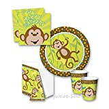 Monkeyin' Around Birthday Jungle Party Tableware Pack for 8