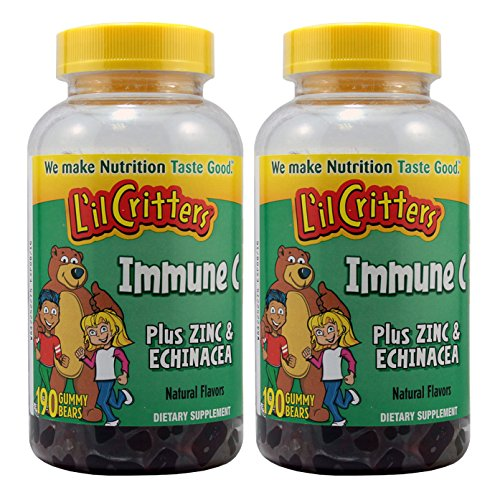 L'il Critters Immune C Plus Zinc and Echinacea Gummy Bears, 190 Count, 2 Pack