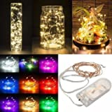 1M Battery Powered 10 LED Copper Wire Fairy String Light Wedding Xmas Party Lamp-Yellow