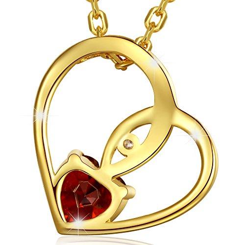 marenja cristal cadeau f te de la saint valentin collier femme en coeur cristal rouge grav je. Black Bedroom Furniture Sets. Home Design Ideas