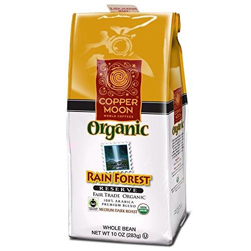 Copper Moon Coffee Rainforest Reserve Fair Trade Organic, Ground, 10 Ounce (Rain Globe Seattle compare prices)