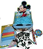 Disney Mickey Mouse Bucket Easter Basket with Chalk Stencil Kit and More