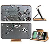 Variety Silver Metallic Speaker Design HTC One M8 Flip Case Stand Magnetic Cover Open Ports Customized Made to Order Support Ready Premium Deluxe Pu Leather 6 4/16 Inch (158mm) X 3 4/16 Inch (82mm) X 9/16 Inch (14mm) Luxlady HTC1 cover Professional M 8 Cases M_8 Accessories Graphic Background Covers Designed Model Folio Sleeve HD Template Designed Wallpaper Photo Jacket Wifi Protector Cellphone Wireless Cell phone