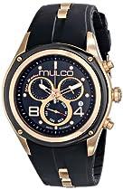 MULCO Unisex MW1-29902-025 Analog Display Swiss Quartz Black Watch