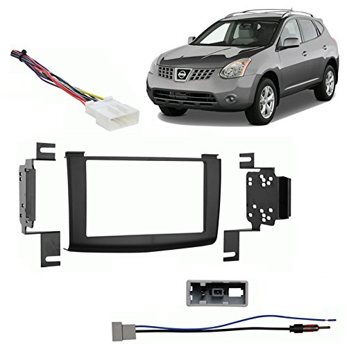 Fits Nissan Rogue 2008-2010 Double DIN Stereo Harness Radio Install Dash Kit (2010 Nissan Rogue Radio compare prices)