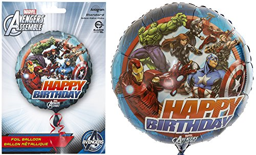 Anagram International HX Avengers Animated Birthday Party Balloons, Multicolor