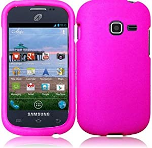 Samsung S738c S738 c Galaxy Centura Straight Talk Hot Pink HARD RUBBERIZED CASE SKIN COVER PROTECTOR