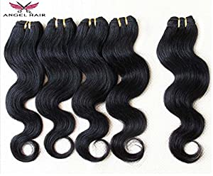 Angel Hair @ 5pcs Quality Brazilian Virgin Hair Extensions 60g/pc Body Wave Hair Weft 100% Unprocessed Human Hair Weave Hair Company Top Quality Mixed Lenght 16