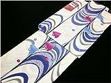 【浴衣単品】◆かわいい千鳥柄◆ 白系 350