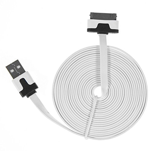 Charge N Go 10 Foot Flat Charging Cable Cord 30-Pin For Iphone 4 front-564594