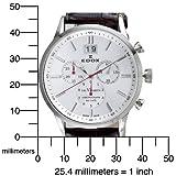 Edox Men's 10010 3A AIN Chronograph Big Date Les Vauberts Watch
