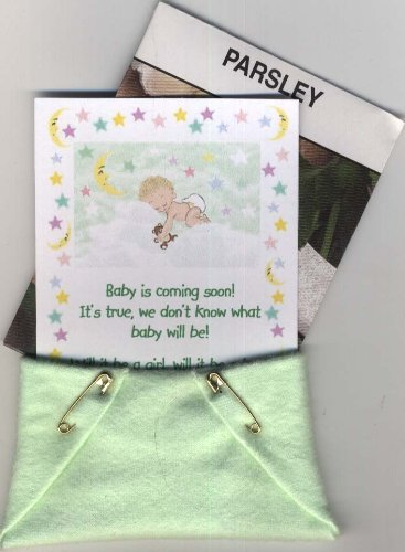 Set Of 4 Baby Shower Seed Packet Favors