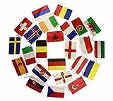 HAAC Fahnen Girlande Wimpelkette mit 24 Teilnehmer Länder 10 Meter