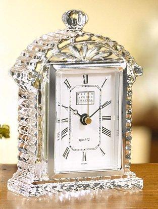 Fifth Avenue Crystal Lisbon Mantle/desk Clock