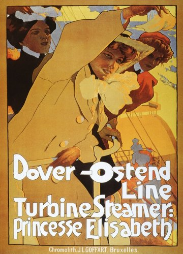 vintage-travel-belgium-for-ostend-to-dover-on-the-turbine-steamer-princess-elizabeth-250gsm-art-card