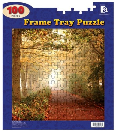 "Frame Tray Puzzle 100 Pieces 12""x14""-country Road"