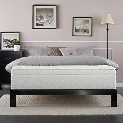 Night Therapy Spring 13 Inch Deluxe Euro Box Top Spring Mattress, Queen