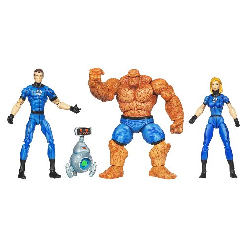 Buy Low Price Hasbro Marvel Universe 3 3/4 Inch Action Figure 3Pack Fantastic Four Invisible Woman, Mr. Fantastic Thing with H.E.R.B.I.E (B004BMXSAC)