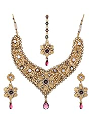Shahenaz Jewellers 24 Ct Gold Plated Bridal Jewellery Set For Women - B00R2IOP7W