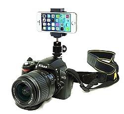 Canon DSLR Hot Shoe Flash Camera Mount Holder for Smartphone Cellular mobile phone