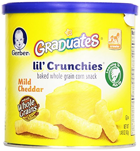 Gerber Graduates Lil' Crunchies - Mild Cheddar - 1.48 oz - 1