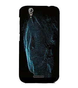 PrintVisa Modern Art Man Face 3D Hard Polycarbonate Designer Back Case Cover for Acer Liquid Jade Z630