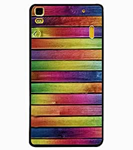ColourCraft Colourful Bars Design Back Case Cover for LENOVO A7000 PLUS