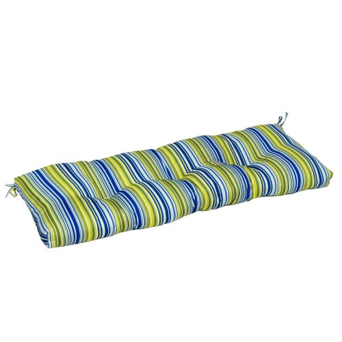 Greendale Home Fashions Ic5812-Vivid Indoor Bench Cushion With Vivid Stripe, 51-Inch