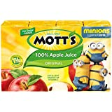 Mott's 100% Apple Juice, Original, 6.75 Ounce Juice Boxes (Pack of 32)