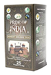 Pride Of India - Organic Finest Oolong Tea, 25 Tea Bags