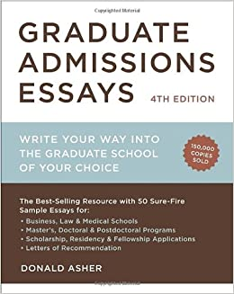 Sample graduate admission essay